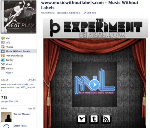 Music Without Labels Static HTML Page